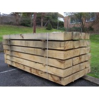 New English Oak Railway Sleepers 200mm x 100mm x 2.4m
