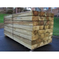New Softwood Green Treated Railway Sleepers 250mm x 125mm x 2.4m